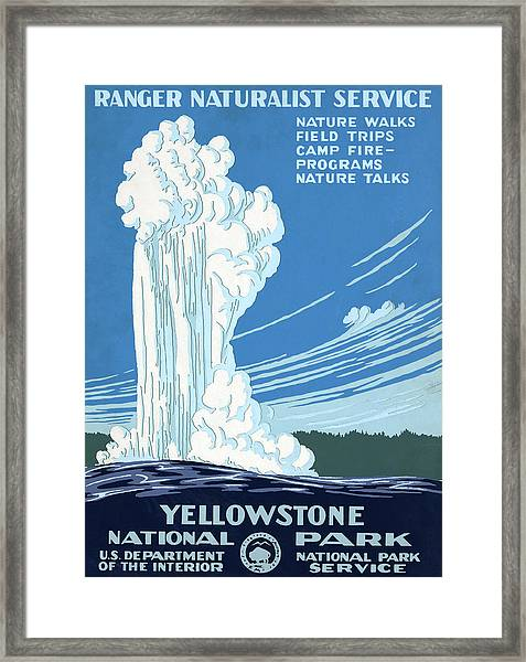 Yellowstone Park Poster Framed Print