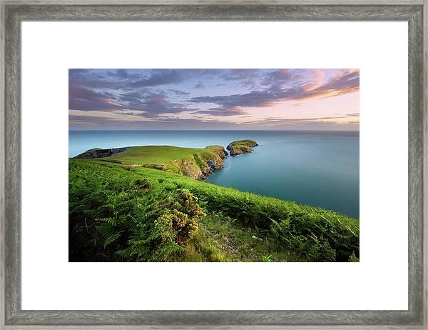 Framed Print featuring the photograph Ynys Lochtyn Summer Sunrise by Elliott Coleman