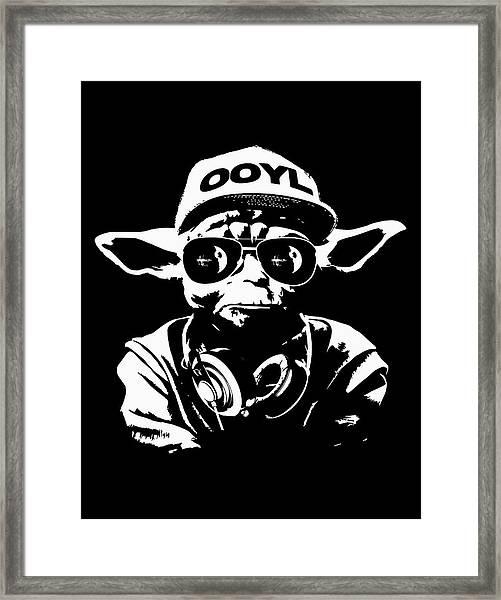 Yoda Parody - Only Once You Live Framed Print