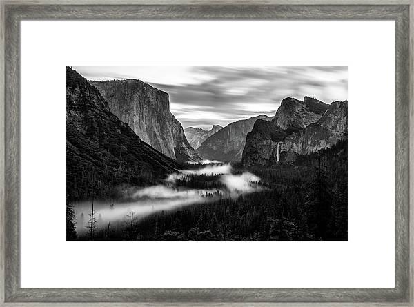Yosemite Fog 1 Framed Print