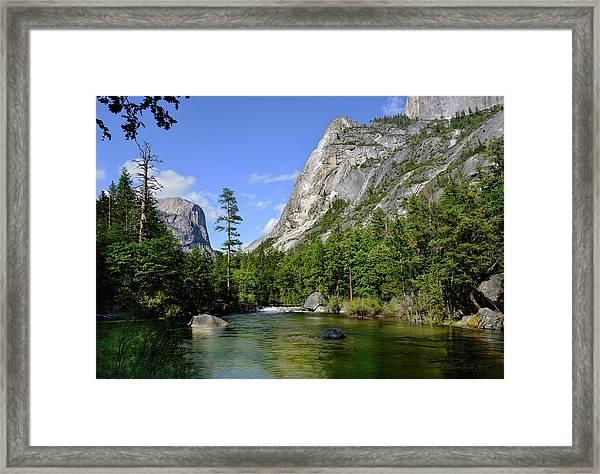 Yosemite Mirror Lake, Lower Pool Framed Print