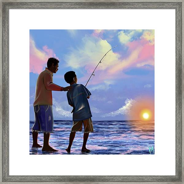 You Make Him Proud Framed Print