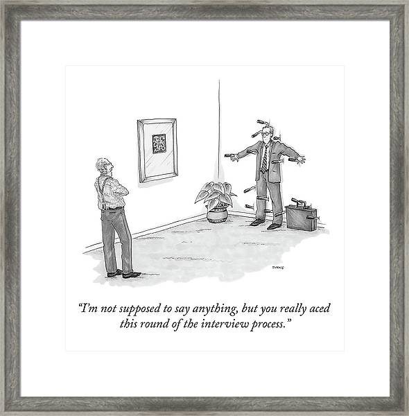 You Really Aced This Round Framed Print