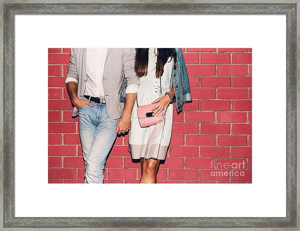 Young Friends Funny Guys Active People Framed Print