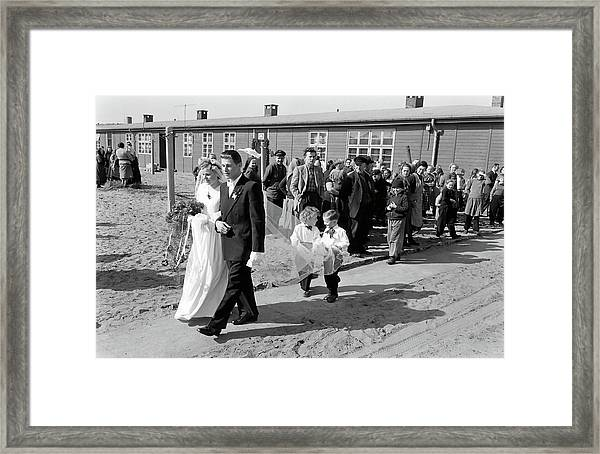 Young Refugee Couple Getting Married Framed Print