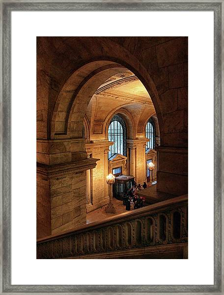 Library Overlook Framed Print
