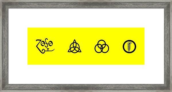 Z O S O Led Zeppelin Logo For T-shirt Framed Print