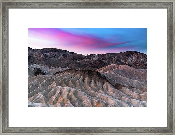 Zabriskie Sunrise Framed Print