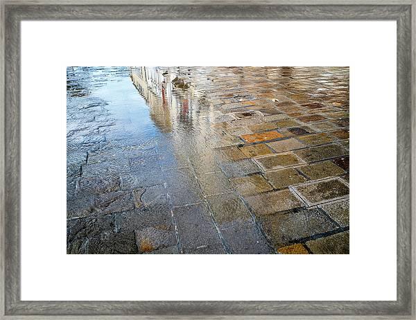 Zattere Reflections, Venice Framed Print