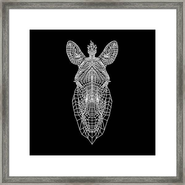 Zebra Mesh Framed Print