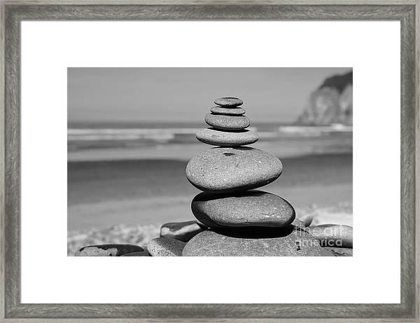 Zen Shore Framed Print
