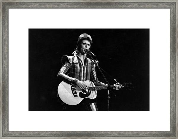 Ziggy Plays Guitar Framed Print by Express