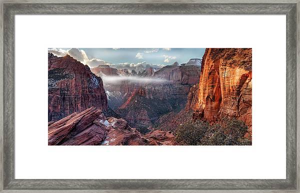 Zion Canyon Grandeur Framed Print