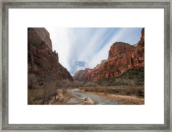 Zion National Park And Virgin River Framed Print