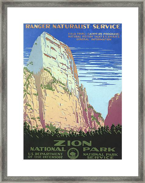 Zion National Park Poster Framed Print