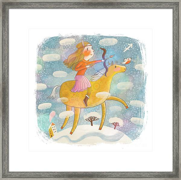Zodiac Sign - Sagittarius. Part Of A Framed Print