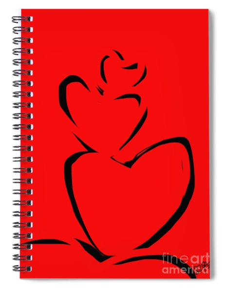 A Stack Of Hearts Spiral Notebook