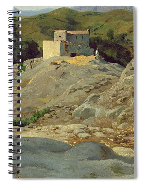 A Village In The Mountains Spiral Notebook