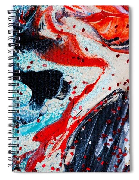 Abstract Original Artwork One Hundred Phoenixes Untitled Number Fifteen Spiral Notebook