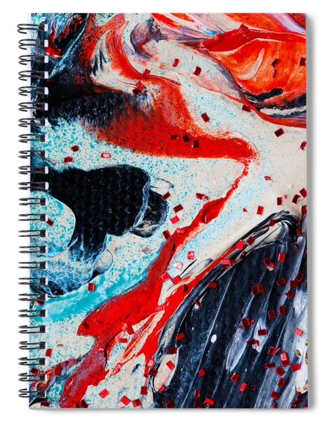 Abstract Original Artwork One Hundred Phoenixes Untitled Number Fifteen Spiral Notebook