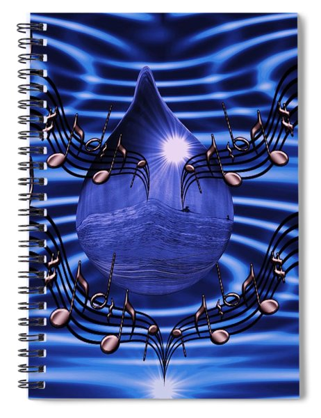 Angelic Sounds On The Waves Spiral Notebook