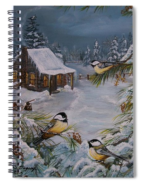 Black Capped   Chickadee's  Spiral Notebook