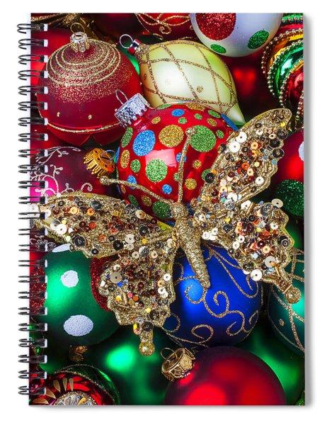Butterfly Ornament Spiral Notebook