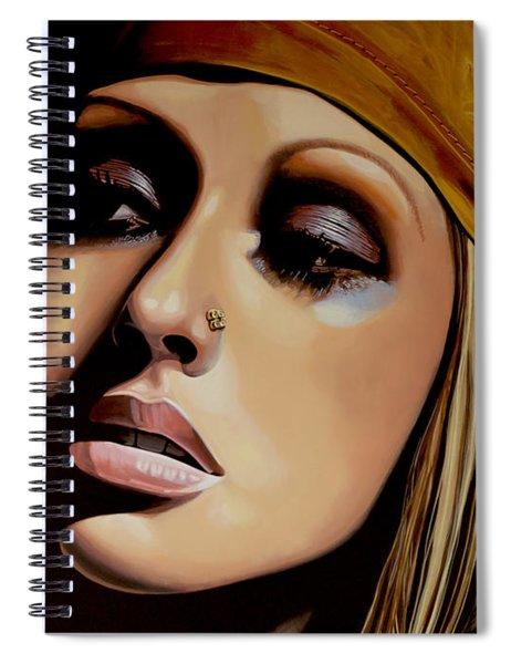 Christina Aguilera Painting Spiral Notebook