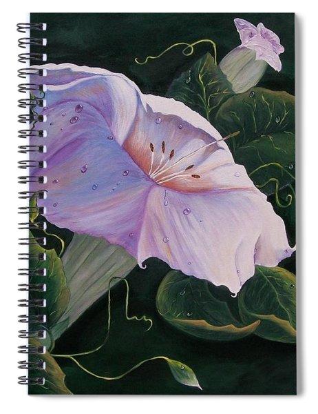 First  Trumpet Flower  Of Summer Spiral Notebook