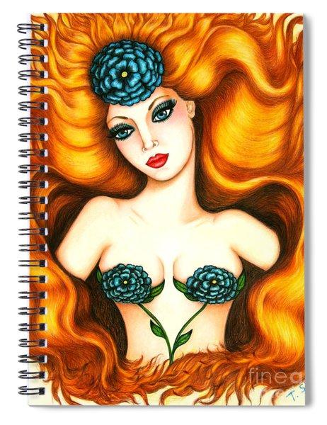 Flower In The Blaze Spiral Notebook