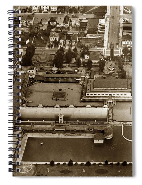 Neptune Beach Olympic Size Swimming Pool And A Roller Coaster Alameda Circa 1920 Spiral Notebook