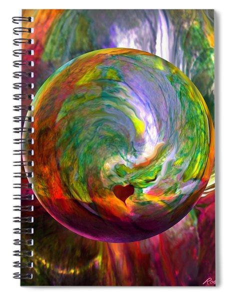 Orbing A Sea Of Love Spiral Notebook