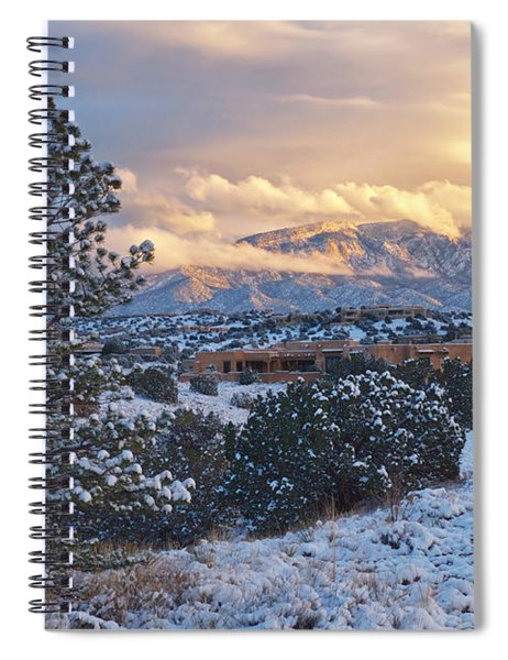 Sandia Mountains With Snow At Sunset Spiral Notebook