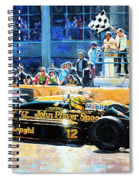 Senna Vs Mansell F1 Spanish Gp 1986 Spiral Notebook