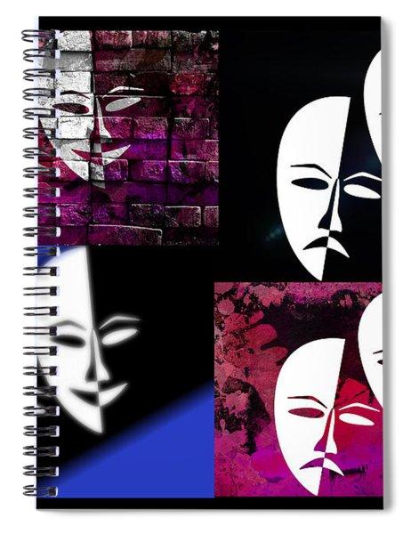 Thalia And Melpomene Spiral Notebook