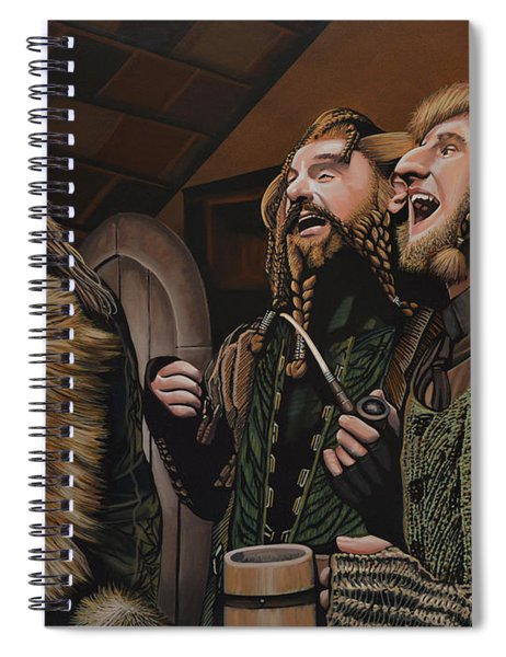 The Hobbit And The Dwarves Spiral Notebook