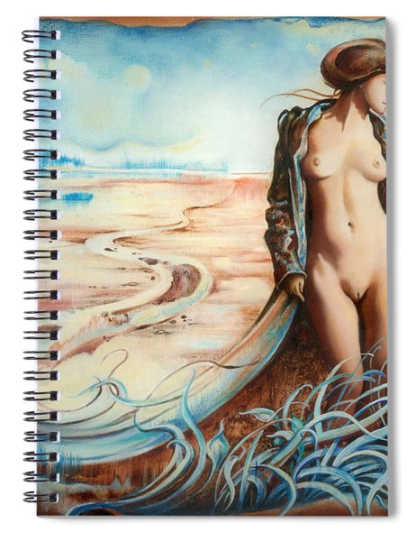 The Last Walk Of Autumn Spiral Notebook