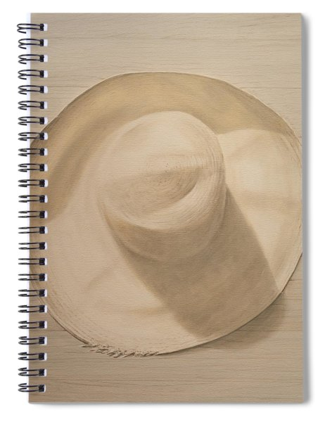 Travelling Hat On Dusty Table Spiral Notebook