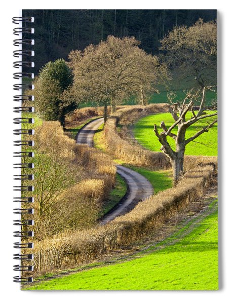 Winding Country Lane Spiral Notebook