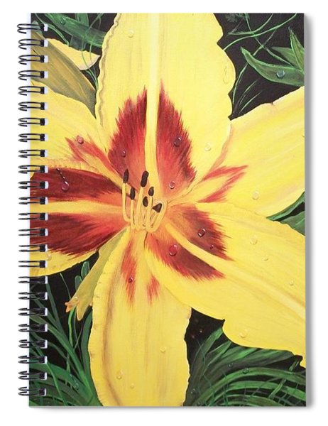 Yellow Lily Spiral Notebook