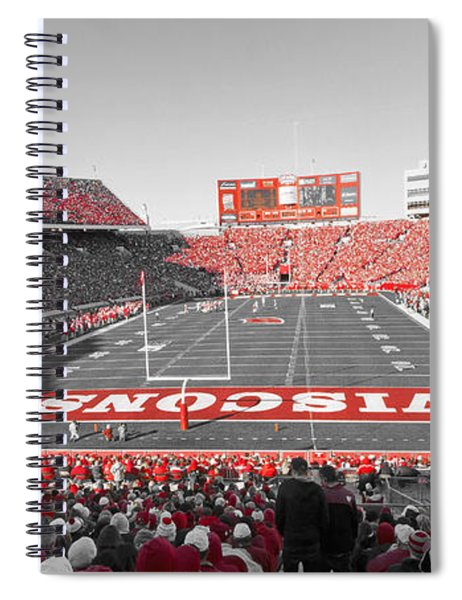 0095 Badger Football  Spiral Notebook