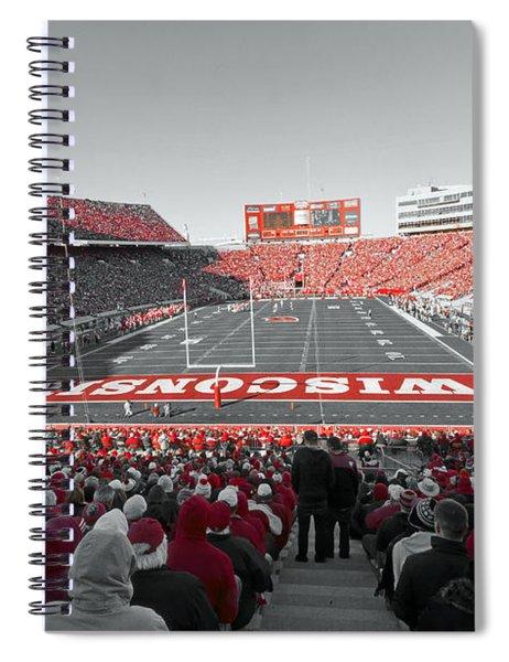 0096 Badger Football Spiral Notebook