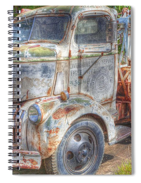 0281 Old Tow Truck Spiral Notebook