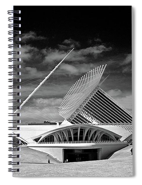 0352 Milwaukee Art Museum Infrared Spiral Notebook