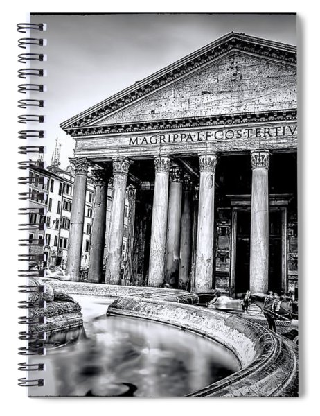 0786 The Pantheon Black And White Spiral Notebook