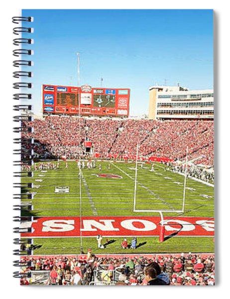 0812 Camp Randall Stadium Panorama Spiral Notebook