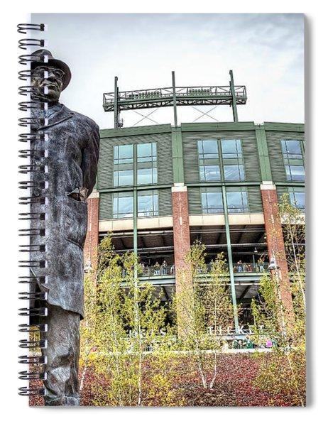 0853 Lombardi Statue Spiral Notebook