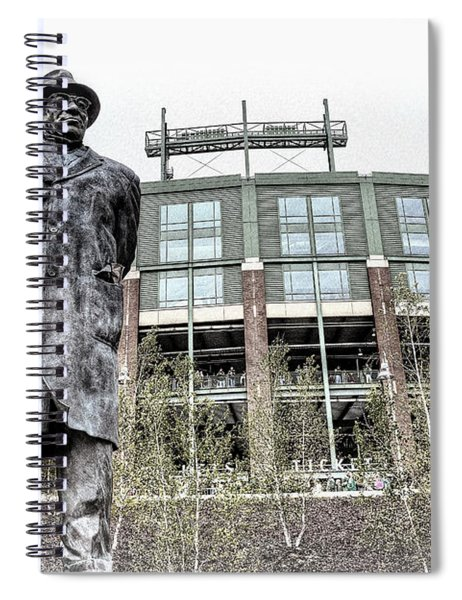 0855 Lombardi Statue Spiral Notebook