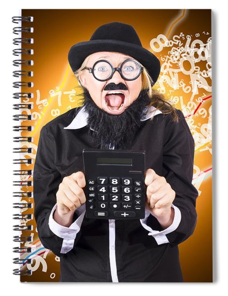 Businessman Showing Financial Investment Gain Spiral Notebook