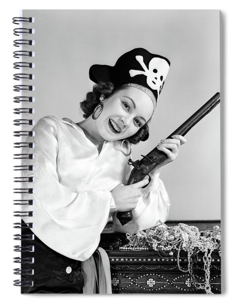 1940s Woman Wearing Pirate Costume Spiral Notebook